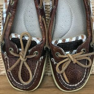 Sperry Top-Sider loafers leather & checker fabric